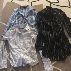 Tops - Bundle of 3 New Striped Button Downs XS